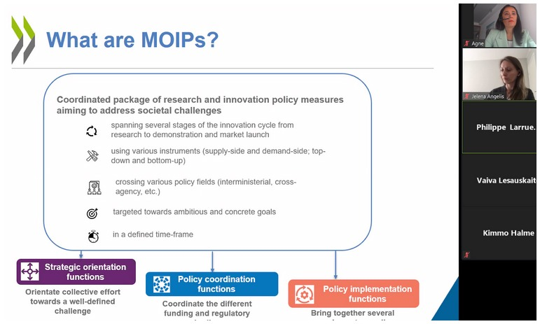 MOIPs presentation on Zoom call